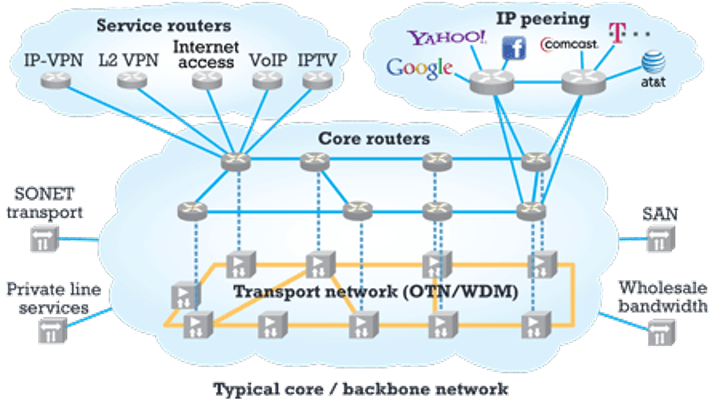 Architecture options for converged packet-optical networks