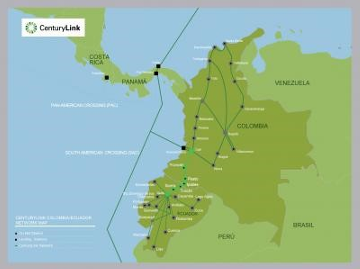 CenturyLink connects Colombia and Ecuador with 585-km fiber ... on comcast business internet availability map, frontier internet availability map, verizon dsl availability map, dish internet availability map, cox internet availability map,