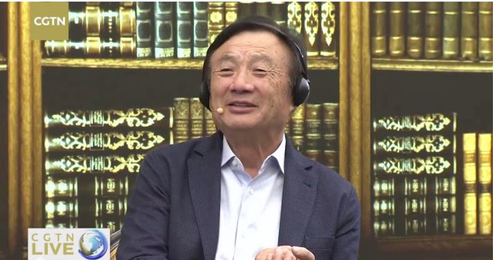 Ren Zhengfei, Huawei founder and CEO, answers a question about the effects on his company of the U.S. technology ban.