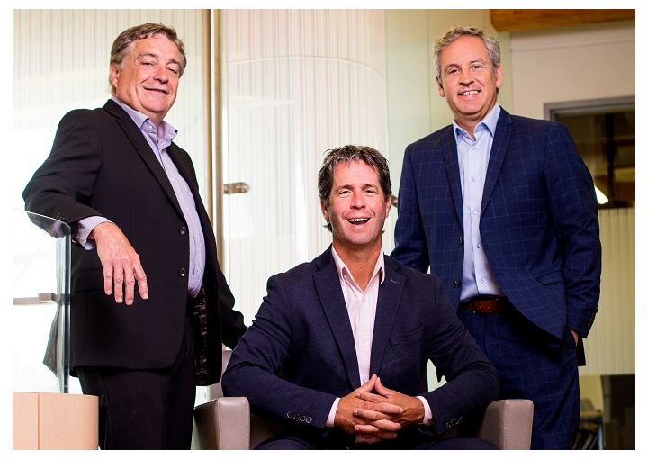 TeraXion's executive management team, from left to right: Richard Kirouac, Ghislain Lafrance, and Alain-Jacques Simard.